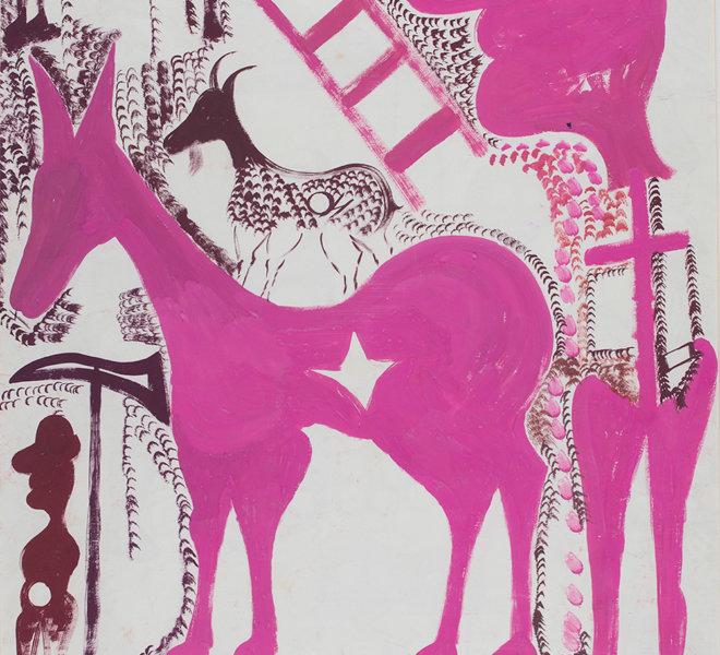 Grande cavallo stellato, alpino e scala rosa