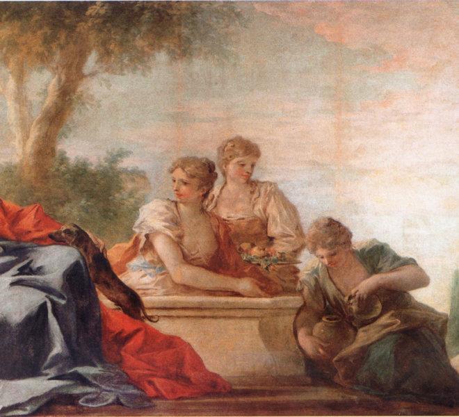 4.-Antonio-Pellegrini_Ritratto-di-dama-in-un-giardino-e-le-ancelle-al-pozzo